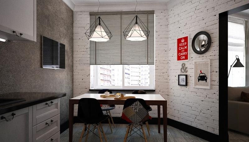 Kitchen With Decorative Plaster