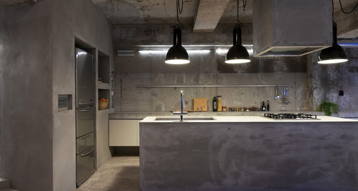 Kitchen With Decorative Plaster